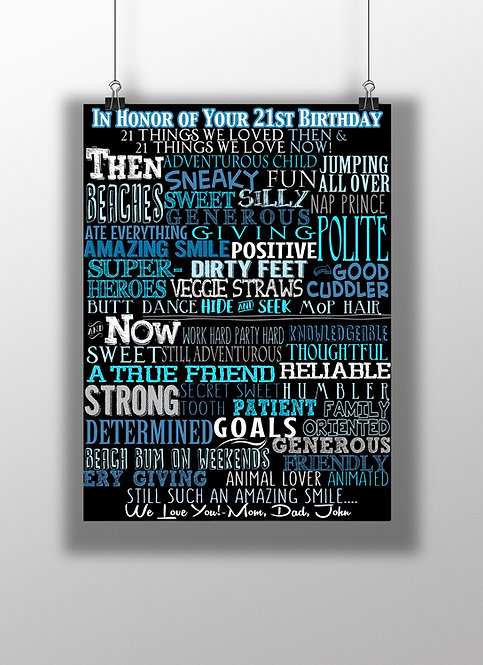21 adjectives for 21st birthday