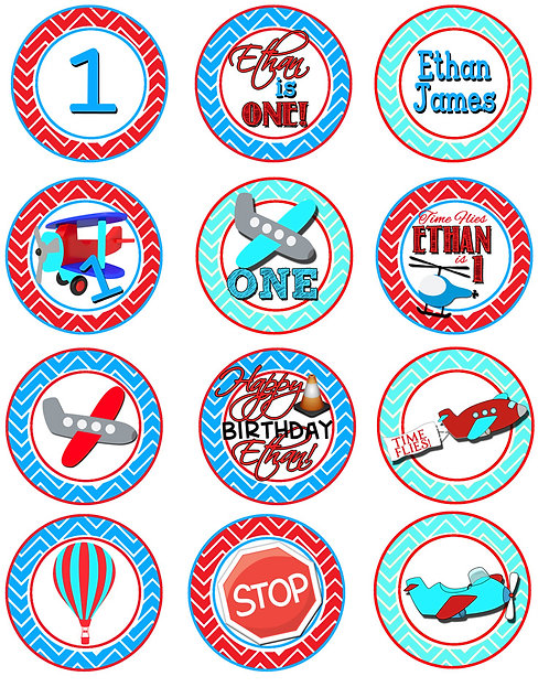 Time Flies Cupcake Toppers