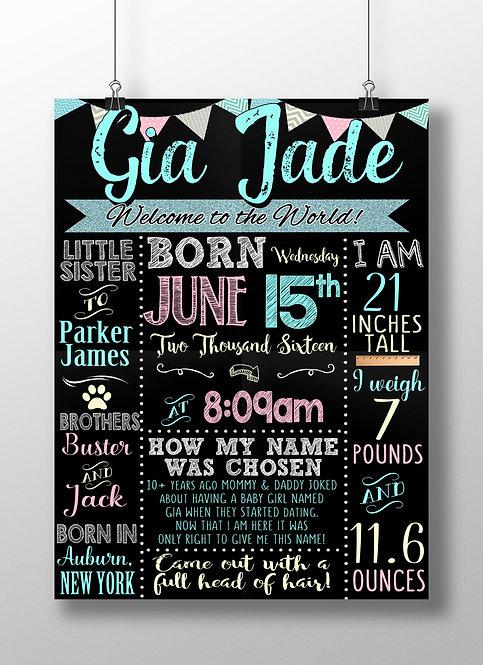 Unique Newborn Girl Sign