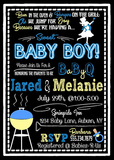 BabyQ Shower Invite for boy