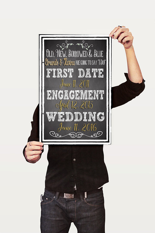 Couples First Dates Sign
