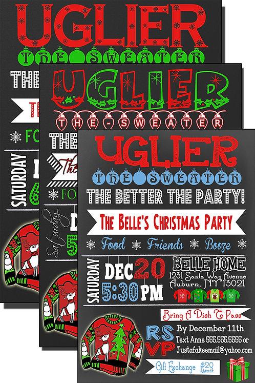 Uglier The Sweater Invite