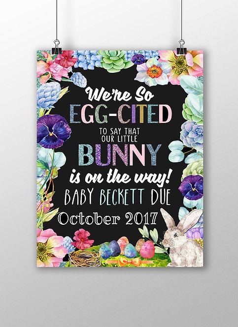 Eggcited Pregnancy Announcement