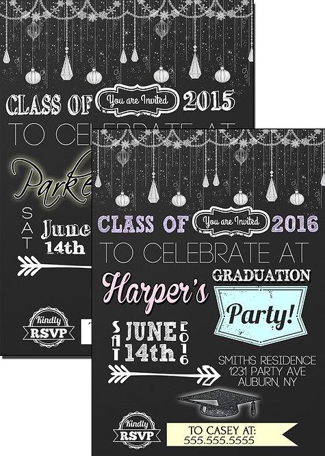 Classy graduation invite
