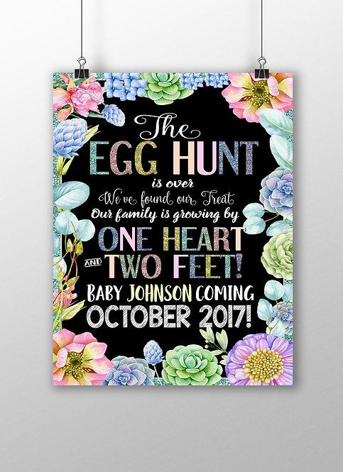 Easter Pregnancy Announce Egg Hunt
