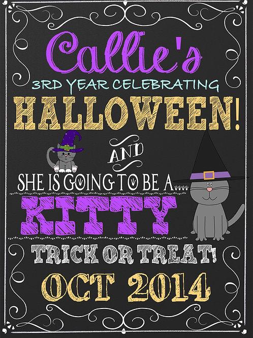 Halloween Milestone Sign