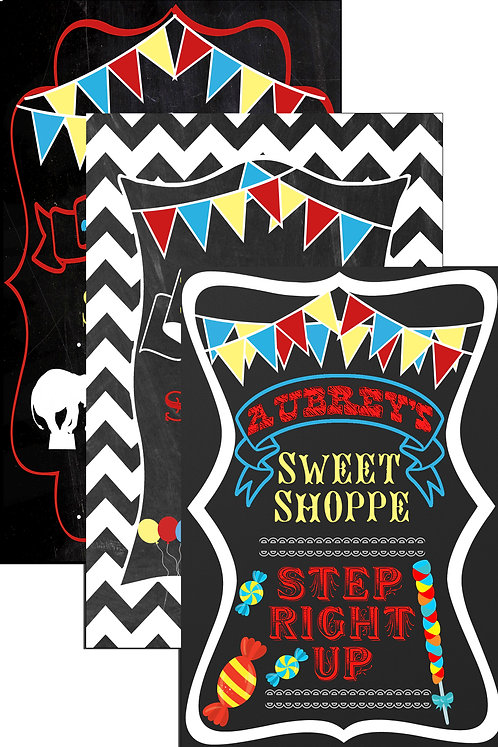 Sweet Shoppe Circus Sign