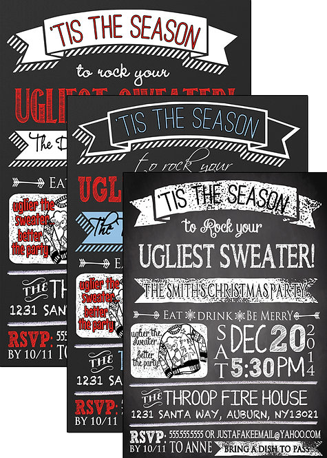 ugly sweater season invite