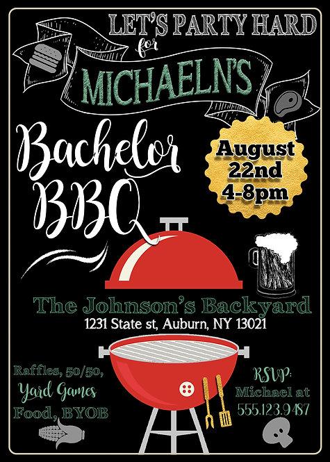 BBQ Bachelor Invites