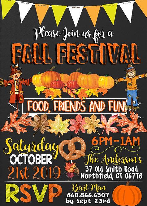 Unique Fall Festival Invite