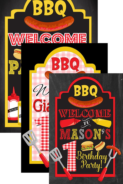 BBQ Welcome Sign for birthday