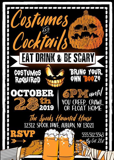 Costumes & Cocktails Invite