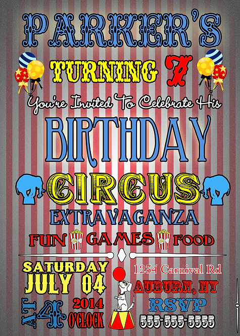 It's a Birthday Circus