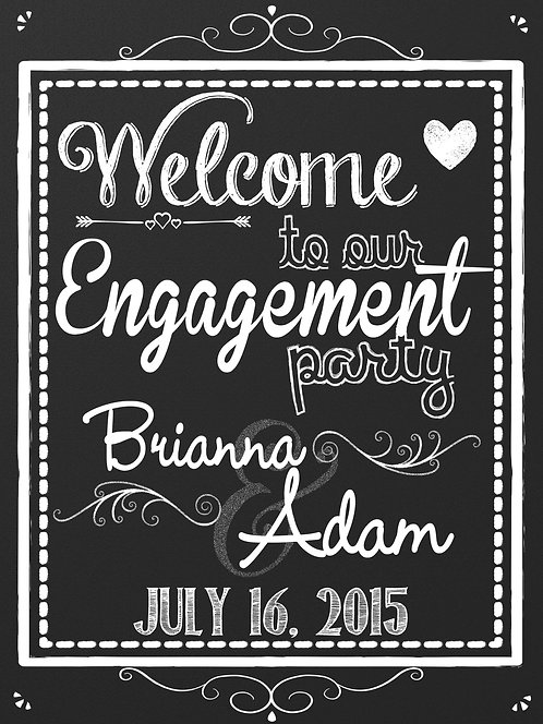 Modern Engagement Welcome Sign