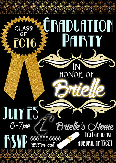 Teal yellow graduation