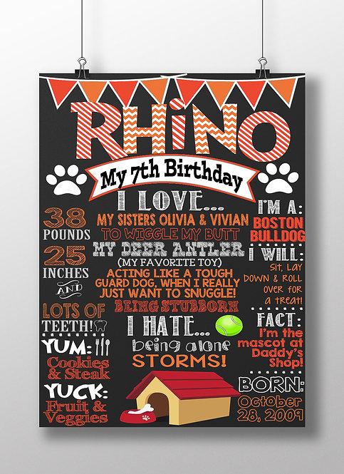 Dogs Birthday Male