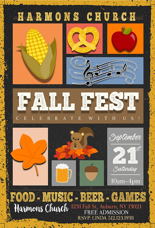 Fall Party Invites