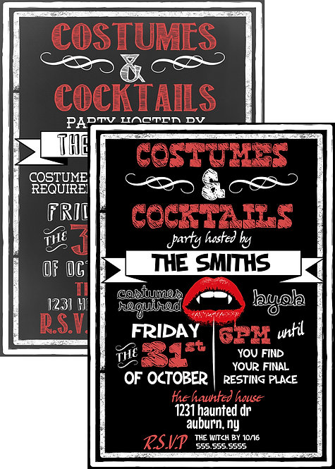 Vampire Party Invitations