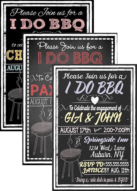 Modern I DO BBQ Invite