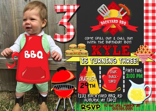 bbq bday party invitations