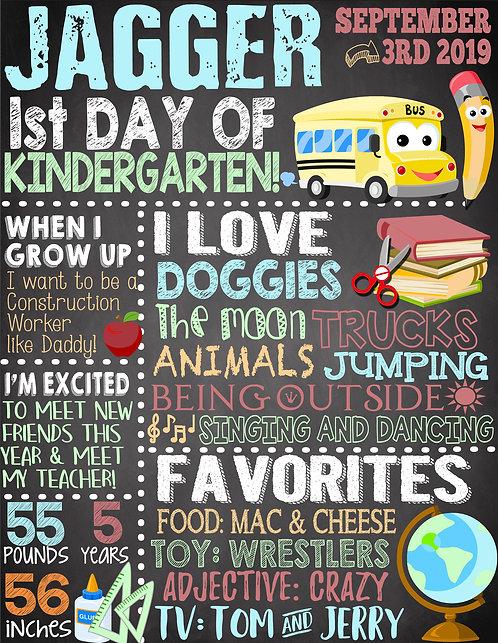 chalkboard first day of school