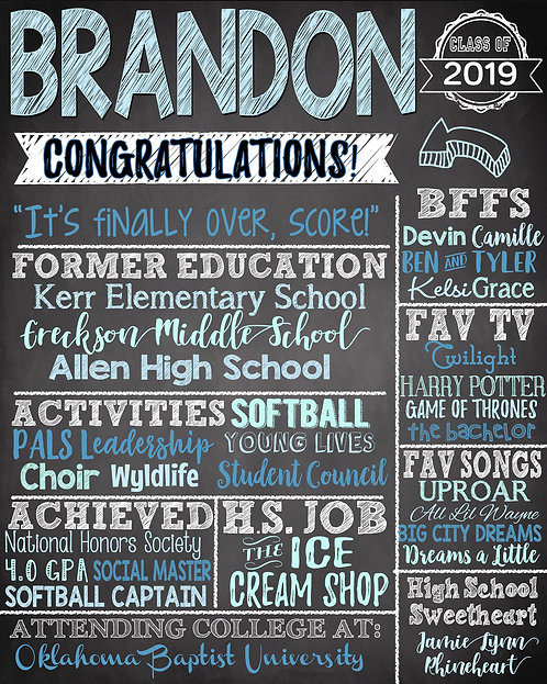 Congratulations Grad Board