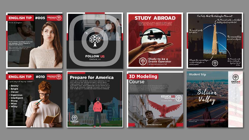 EducaUS - Brand Identity & Social Media Posts