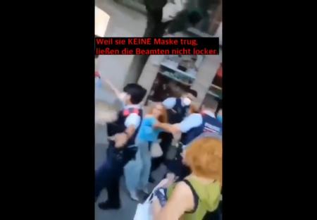 İspanyol vatandaşlar MASKESİZ kadının TUTUKLANMASINI ÖNLEDİ!