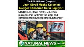 Yeni Bir Bilimsel Çalışma : Uzun Süreli Maske Kullanımı Akciğer Kanserine Katkı Sağlıyor !