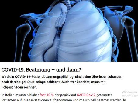 """Tıp Uzmanları Portalı DocCheck'teki Makalede TestPozitif Hastaların """"Suni Solunum Sorunu"""" Ele Alındı"""
