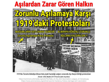 Aşılardan Zarar Gören Halkın Zorunlu Aşılamaya Karşı 1919'daki Protestoları