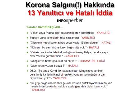 Korona Salgını(!) Hakkında 13 YANILTICI ve HATALI İDDİA
