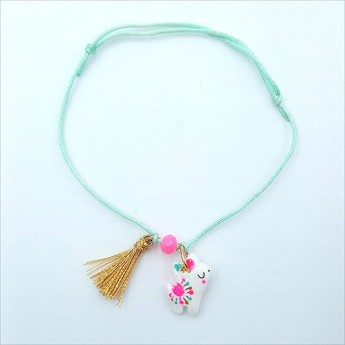 "Bracelet cordon ""Alpaga"" mint"