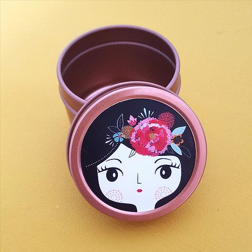 Boîte à tout en acier ronde 5x4cm - Frida