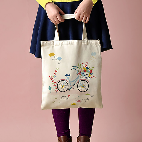"Tote Bag ""Bicyclette"""