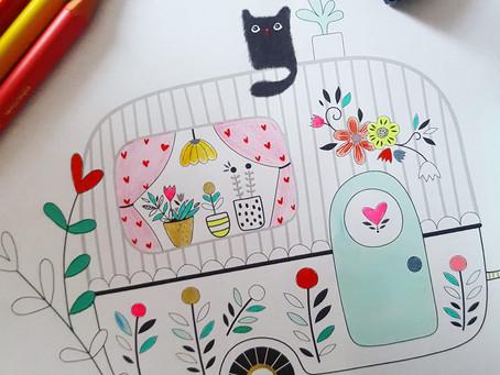 Coloriage #2 - Colories la caravane de tes rêves