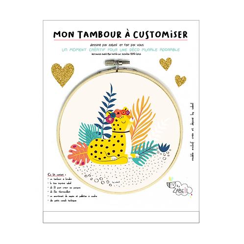 """Kit """"Custom"""" pour Tambour déco """"Guéparde"""""""