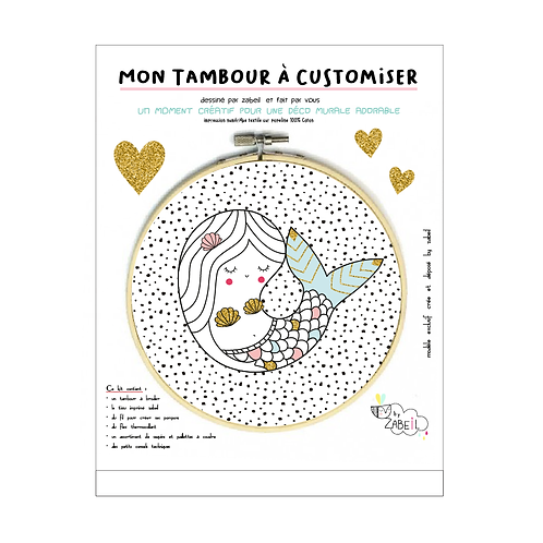 "Kit ""Custom"" pour Tambour déco ""SIRENE"""