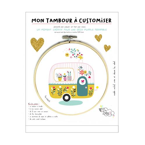 """Kit """"Custom"""" pour Tambour déco """"Caravane"""""""