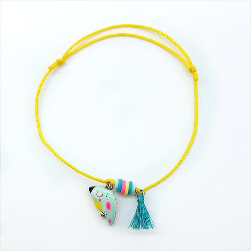 "Bracelet cordon ""Perroquet"" Jaune"