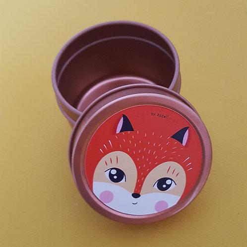 Boîte à tout en acier ronde 5x4cm - Panda Roux