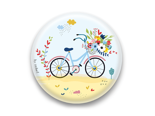 "Badge ""A bicyclette"""