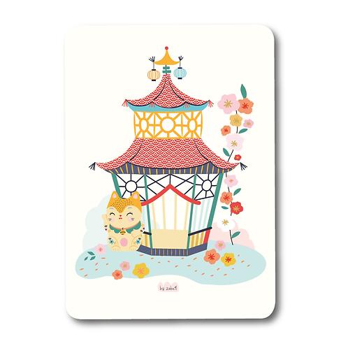 """Carte """"Maneki Neko"""" porte bonheur"""
