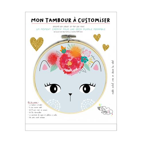 """Kit """"Custom"""" pour Tambour déco """"Frida Chat"""""""
