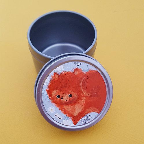 Boîte à tout en acier ronde 5x4cm - Pomeranian