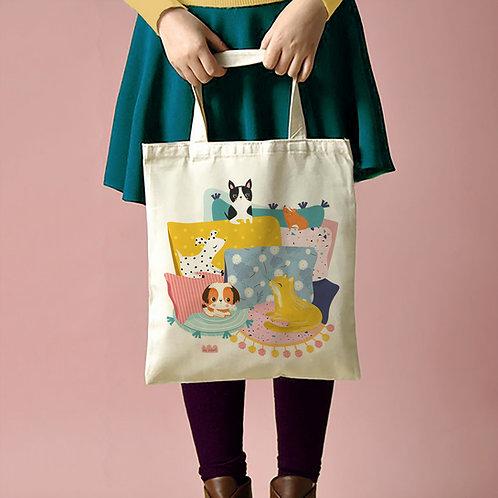"Tote Bag ""Chill animals"""