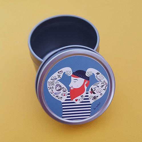 Boîte à tout en acier ronde 5x4cm - Barbe Rousse