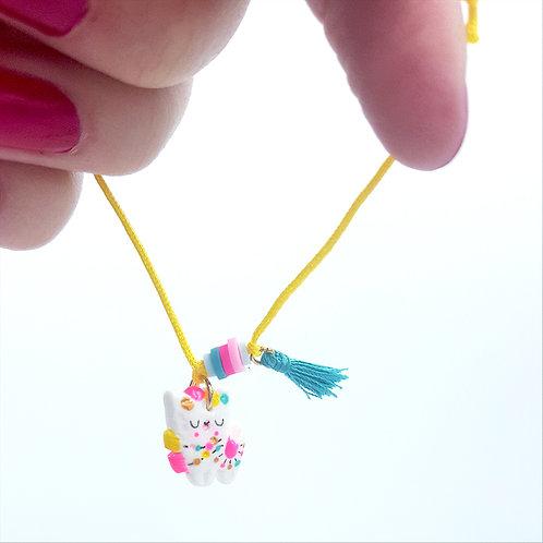 "Bracelet cordon ""Lama"" Jaune"