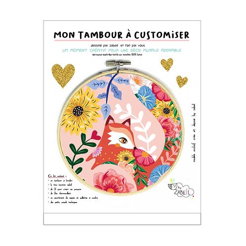 "Kit ""Custom"" pour Tambour déco ""Renard FOLK"""
