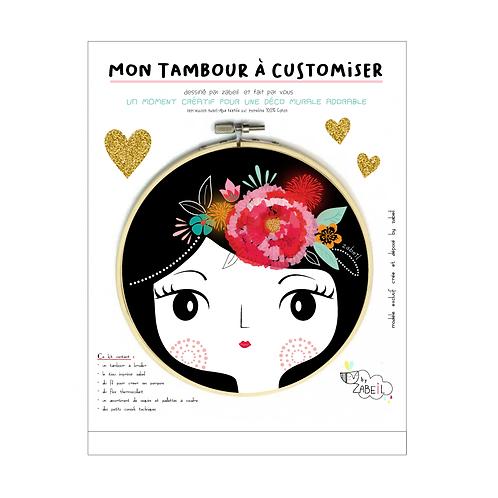 """Kit """"Custom"""" pour Tambour déco """"FRIDA"""""""